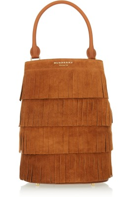 A fringed suede tote. Burberry Prorsum, $2,795
