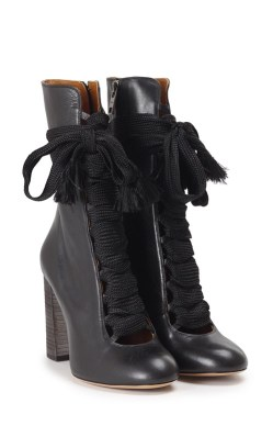 Lace-up leather boots. Chloé, $1,034