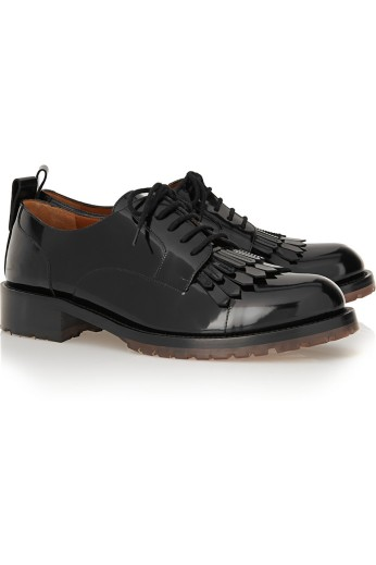 Leather brogues. Valentino, $995