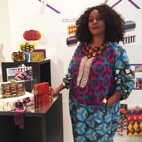 Lolita Lorenzo with her creations