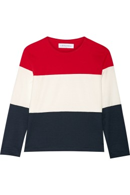 A (classy) color-block top. Solid and Striped, 120