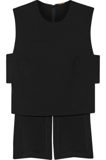 Asymmetric wool-blend crepe top. Adam Lippes, $650