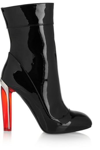 Patent-leather ankle boots. Alexander McQueen, $1,695
