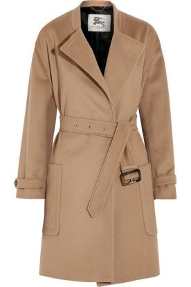 Wool and cashmere-blend coat. Burberry London, $1,595