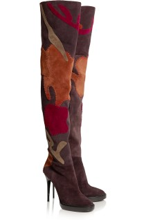 Appliquéd suede over-the-knee boots. Burberry Prorsum, $2,295