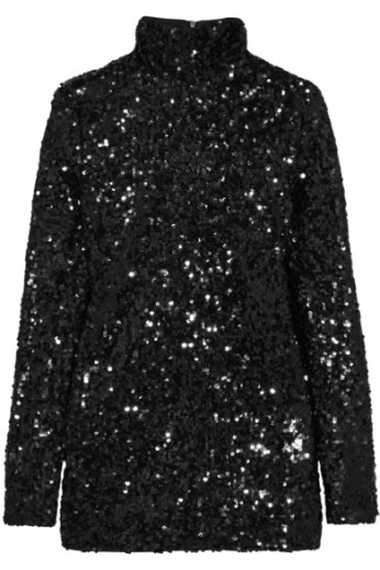 Sequined top. By Malene Birger, $675