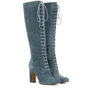 Suede lace-up boots. Etro, $1,232