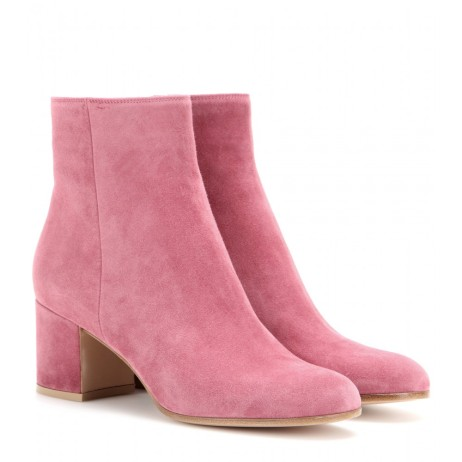 Suede ankle boots. Gianvito Rossi, $738