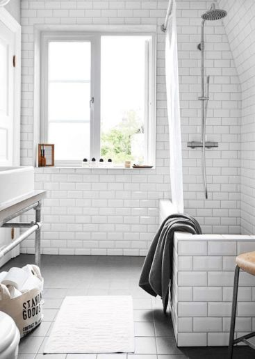8. Think about adding an industrial touch to your bathroom.