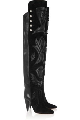 Suede and leather over-the-knee boots. Isabel Marant, $2,370