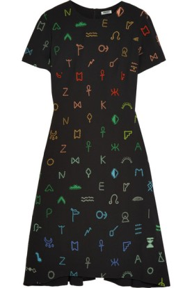 Embroidered crepe dress. Kenzo, $1,090