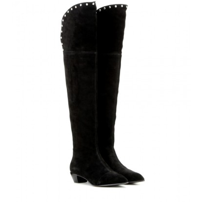 Over-the-knee suede boots. Marc by Marc Jacobs, $673