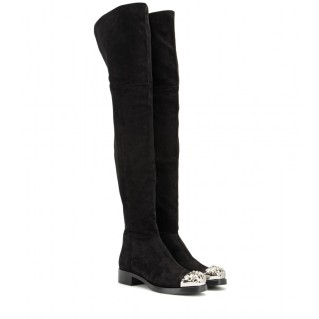 Embellished suede over-the-knee boots. Miu Miu, $1,519