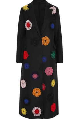 Embroidered wool-blend coat. MSGM, $1,530