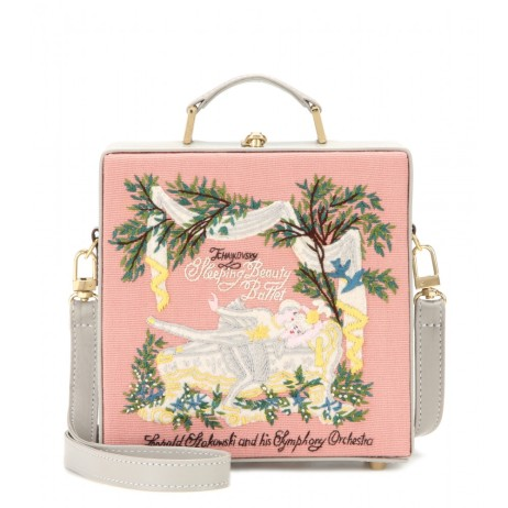 Embroidered shoulder bag. Olympia Le-Tan, $1,470