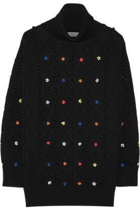 Oversized embroidered sweater. Preen by Thornton Bregazzi, $1,005