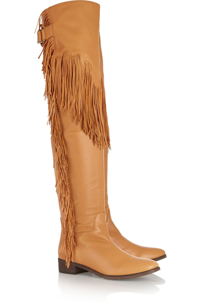 Fringed leather over-the-knee boots. See by Chloé, $695