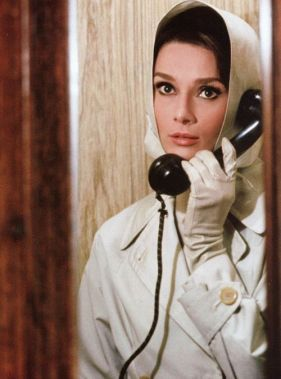 Audrey Hepburn as Regina Lampert in a secret agent look. Charade, Stanley Donen (1963)