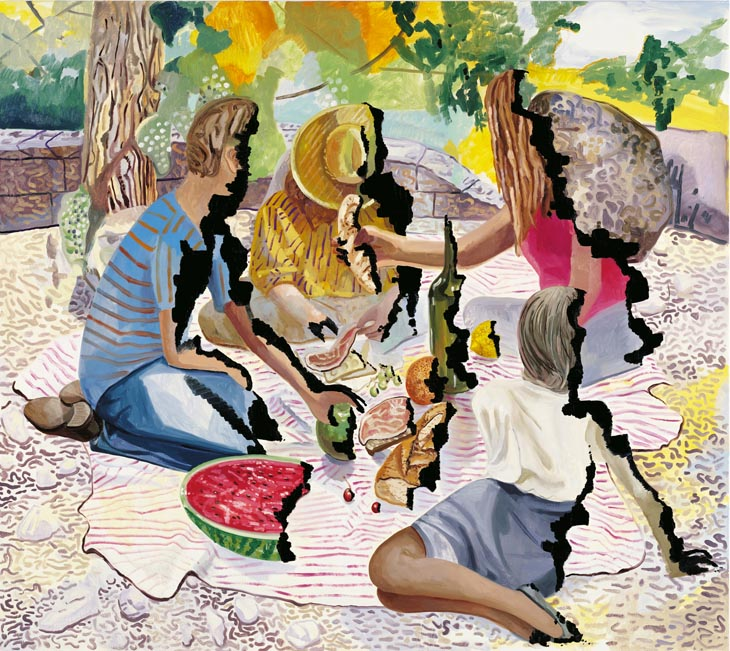 Singed Picnic, 2008, Oil on canvas