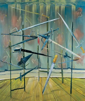 Sword Rack, 2003, Oil on canvas