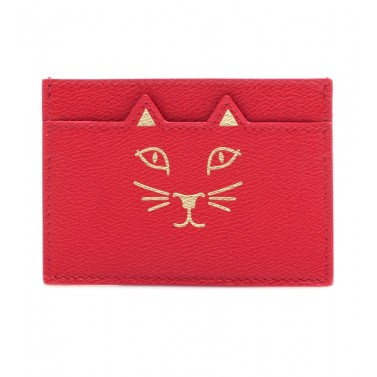 Leather card holder. Charlotte Olympia, $153