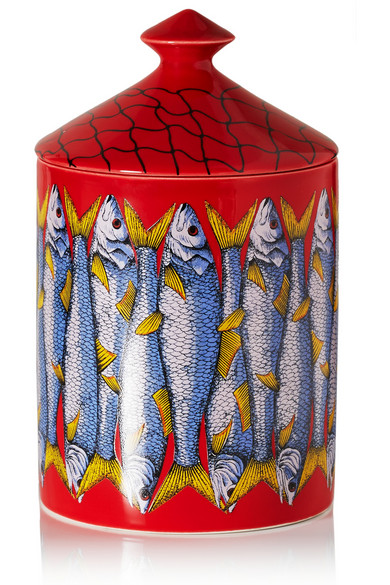 Thyme, Lavender and Cedarwood scented candle. Fornasetti $175