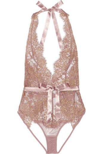 Lace and stretch-tulle bodysuit. L'Agent by Agent Provocateur, $200