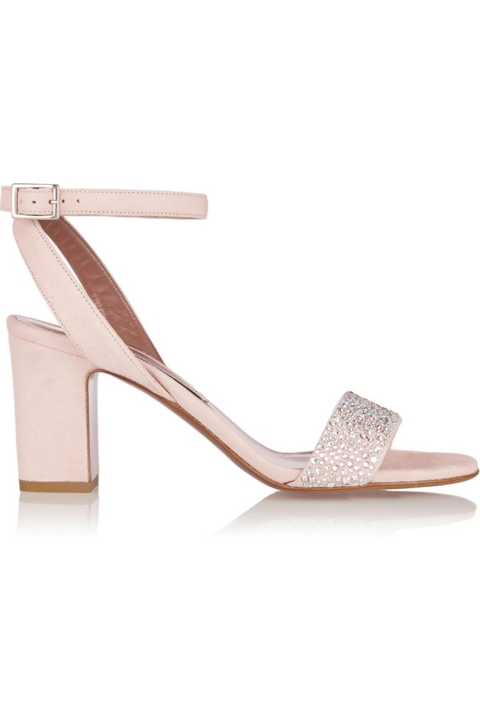 Crystal-embellished suede sandals. Tabitha Simmons, $845