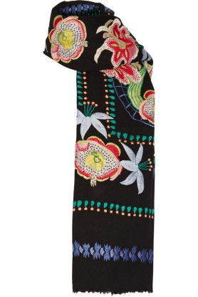 Embroidered wool scarf. Temperley London, $950