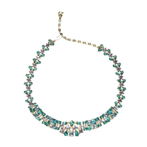 Blue Jomaz necklace, £695 at Passionate About Vintage boutique in London