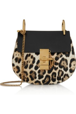 Mini leather shoulder bag. Chloé, $2,090