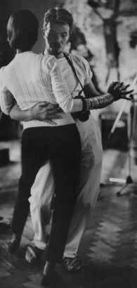 David Bowie and wife Iman dancing