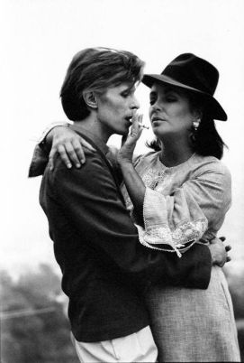 David Bowie and Liz Taylor