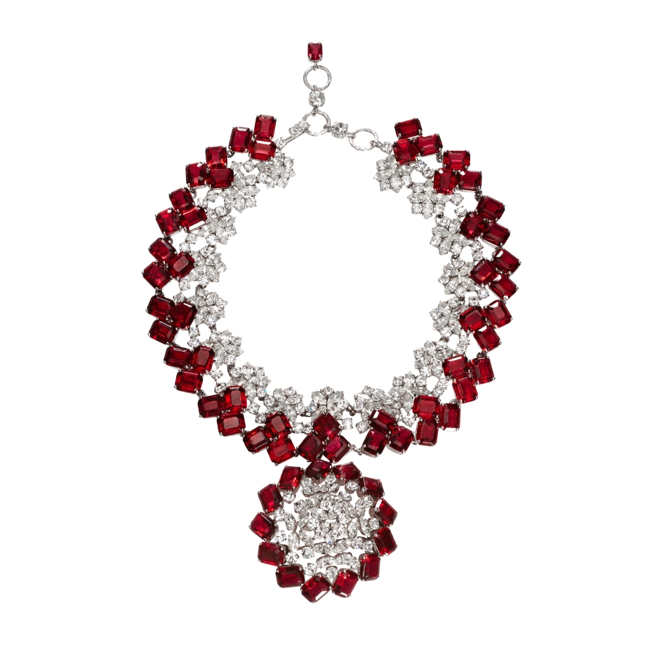Dior red necklace, £995 at Passionate About Vintage boutique in London