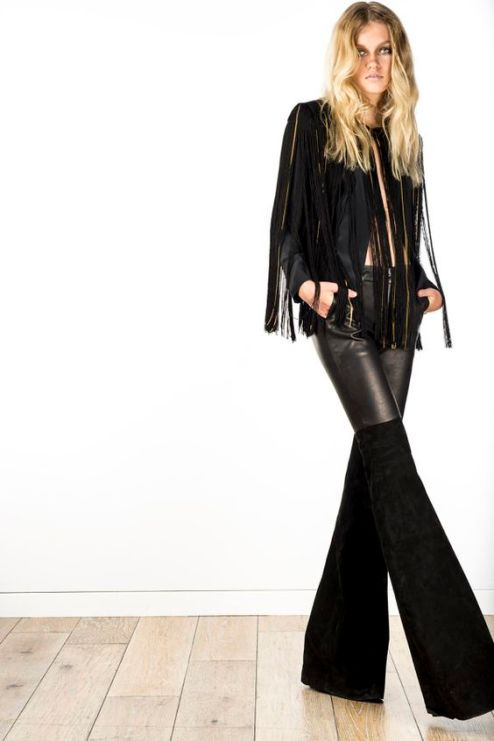 Leather and fringes. (The Zoe Report)