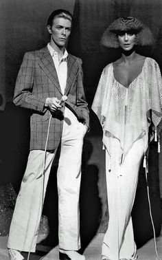 David Bowie with Cher