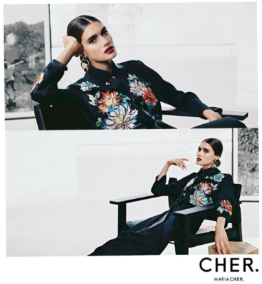 Cameron Traiber for Maria Cher. (Ph. credit www.maria-cher.com)