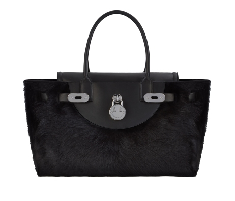 Happy Handbag Liquorice black shearling, Hill and Friends FW 16-17