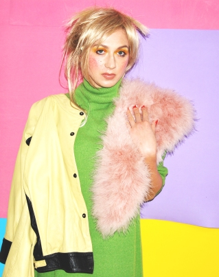 Pastel Vibes, Style Behind March 2016 (Green dress, DIY / Leather jacket Versace)
