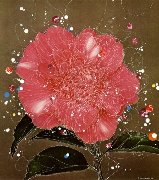 Sebastiaan Bremer (Dutch, b. 1970) Camellia Effendee Chandleri Rustique, 2015 Unique hand-painted chromogenic print with mixed media © Sebastiaan Bremer. Courtesy of the artist and Edwynn Houk Gallery, New York and Zurich.